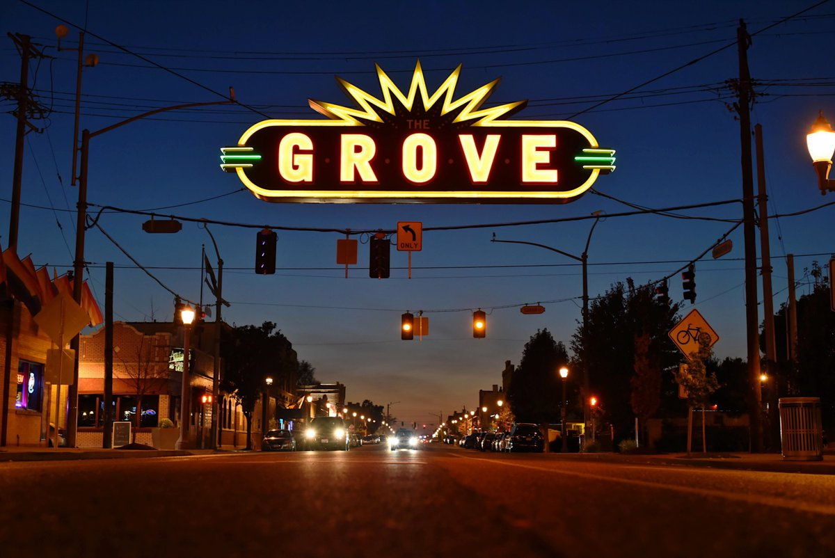 Iconic The Grove Sign, courtesy of Ed Aller