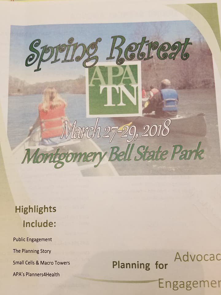 The Spring 2018 Retreat was held at Montgomery Bell State Park.