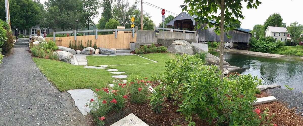 NNE Rain Garden in Waitsfield, VT