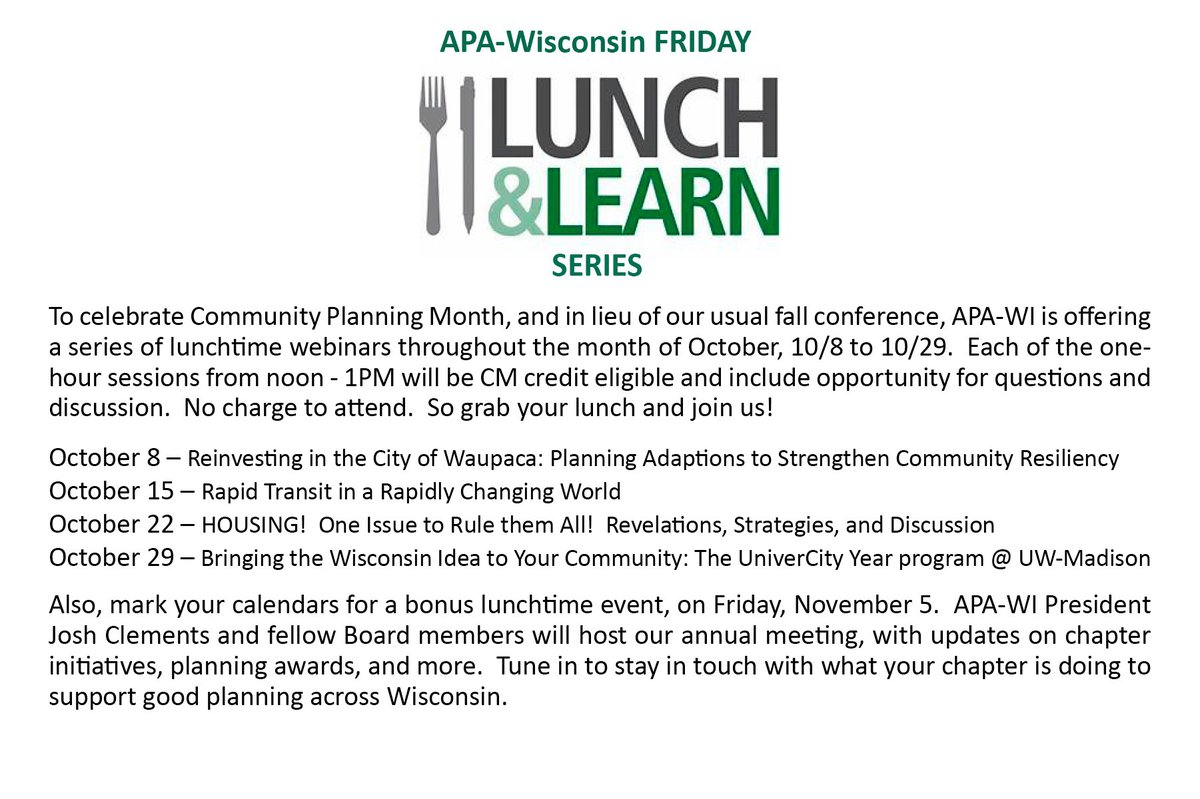 Celebrate Community Planning Month with these professional development programs