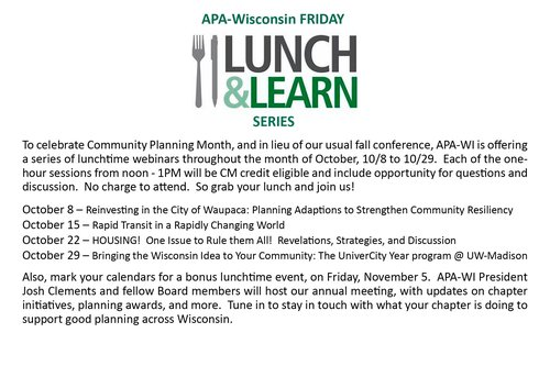 lunch and learn october 2021