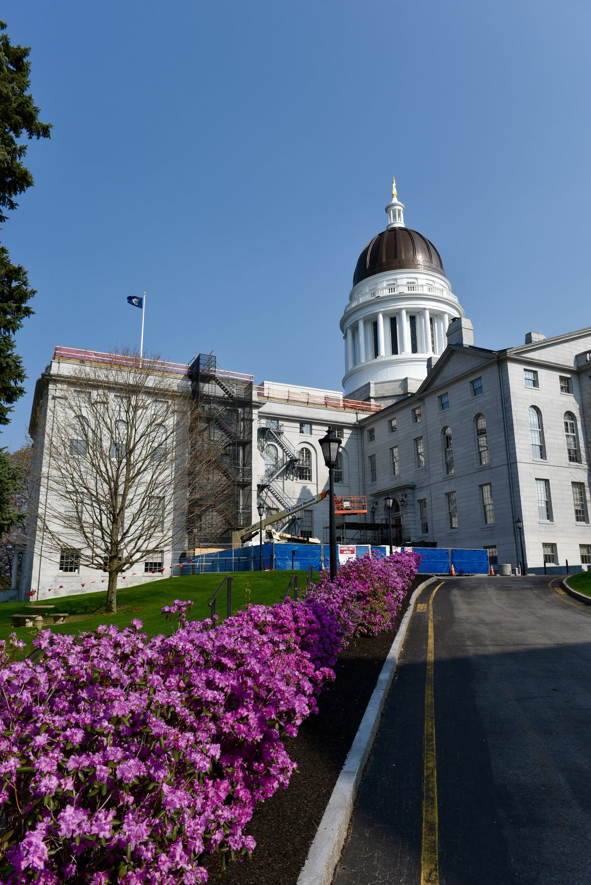 Maine State House in Spring