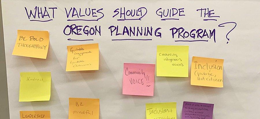 Question: what values should guide Oregon's Planning Program?