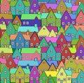 Image of a colorful neighborhood