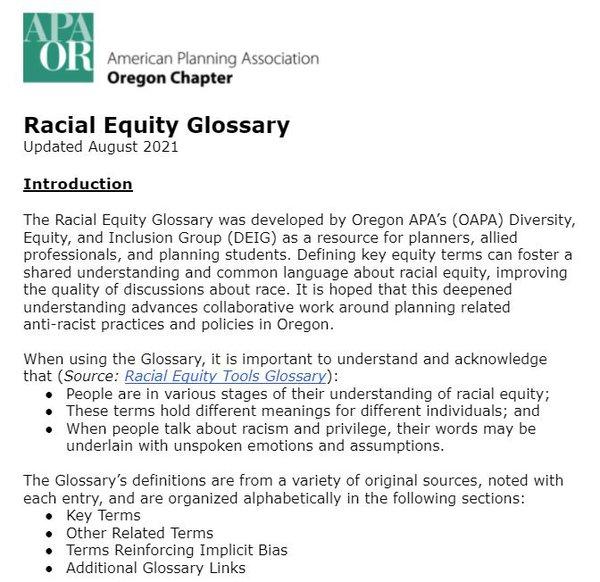 Racial Equity Glossary