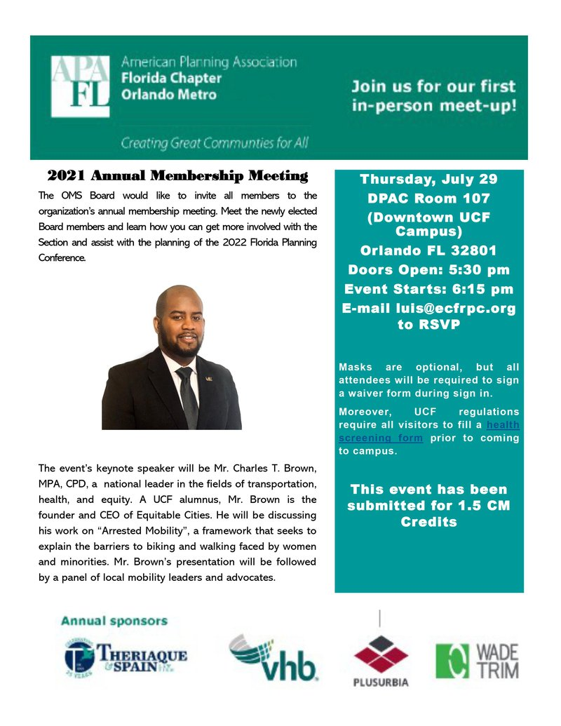 2021 Annual Meeting Flyer