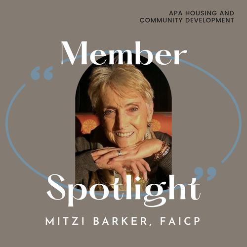 Mitzi Barker, FAICP
