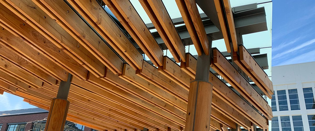 Image of a wood canopy in Portland