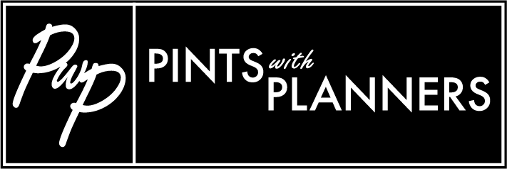 Logo for Pints with Planners podcast