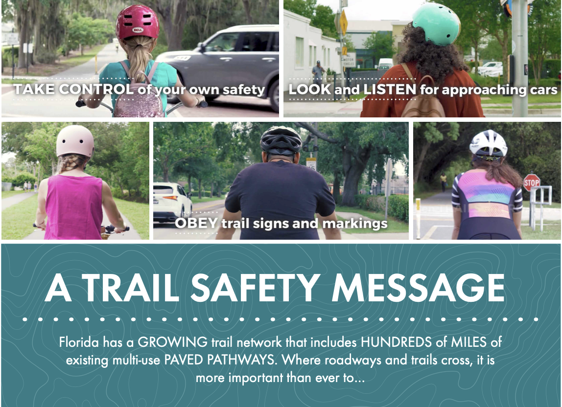 Trail safety message from FDOT