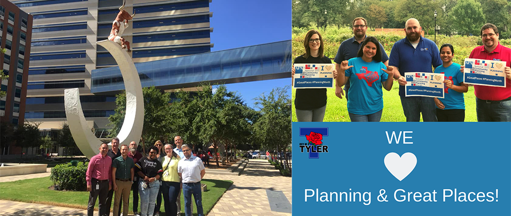 Planners from Tyler, Texas and Richardson, Texas in celebration of NCPM 2018.