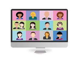 Virtual Webinar Cartoon Heads