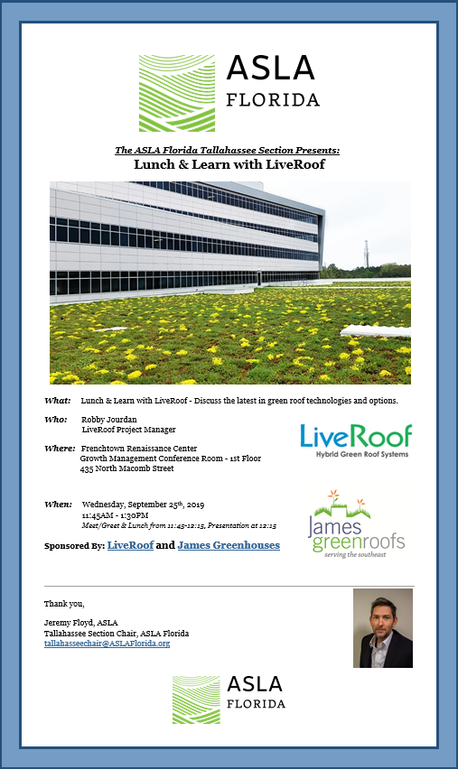 asla lunch and learn tallahassee flier