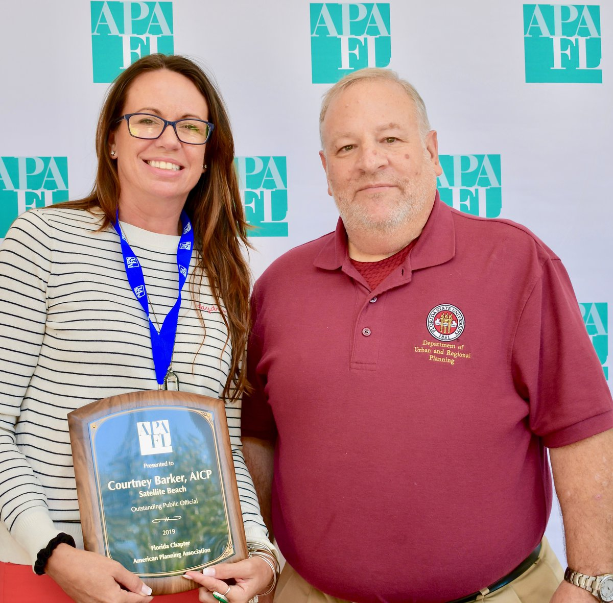 Courtney Barker AICP receives the 2019 APA Florida Local Public Official Award