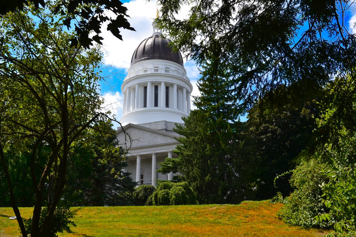 Maine State House in Summer