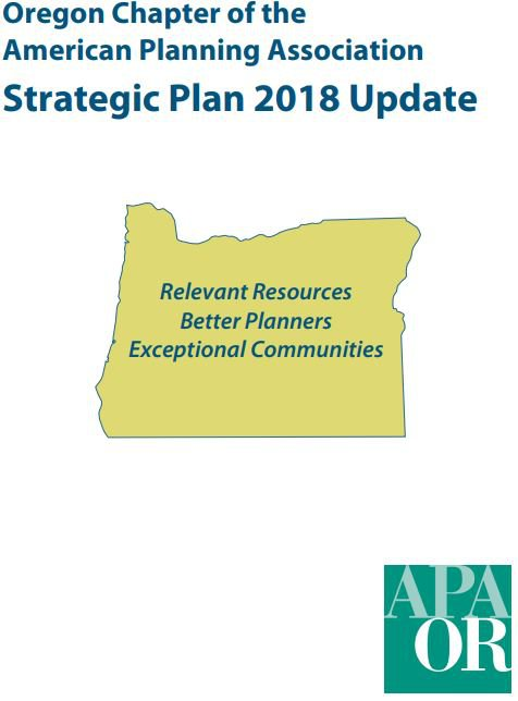 Cover of the OAPA Strategic Plan 2018 Update