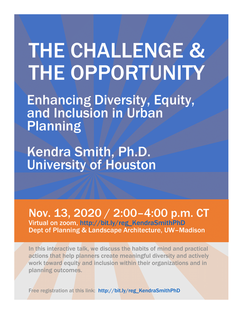 The Challenge and the Opportunity: Enhancing Diversity, Equity, and Inclusion in Urban Planning - Nov 13